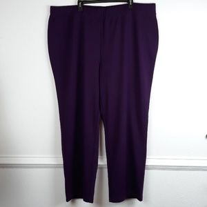 SUSAN GRAVER PLUS SIZE PURPLE PANTS